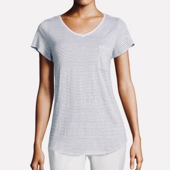 Eileen Fisher Tops - ⭐️ Eileen Fisher Linen Skinny Striped Shirt Size M